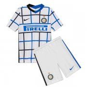 2020/2021 Inter Milan Away White Kids Soccer Jersey Kit (Shirt + Short)