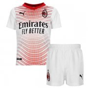 2020/2021 AC Milan Away White Soccer Kit Jersey + Short Kid's