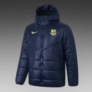 2020/2021 Barcelona Navy Soccer Winter Jacket Men's