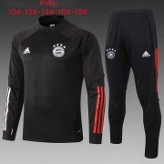 Kid's 2020-2021 Bayern Munich Black Half Zip Soccer Training Suit