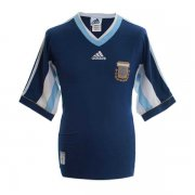 1998 Argentina World Cup Retro Away Navy Men Soccer Jersey Shirt