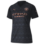 2020/2021 Manchester City Away Black Women Soccer Jersey Shirt