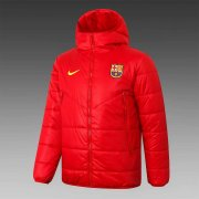 2020/2021 Barcelona Red Soccer Winter Jacket Men's