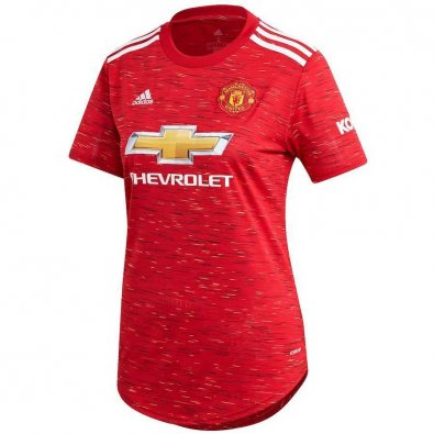 2020/2021 Manchester United Home Red Soccer Jersey Women's