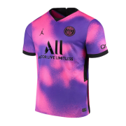 2020/2021 PSG Fourth Away Purple Soccer Jersey Men's