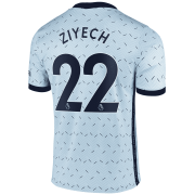 2020/2021 Chelsea Away Light Blue Men's Soccer Jersey Ziyech #22