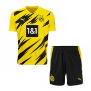 2020/21 Borussia Dortmund Home Yellow Kids Soccer Jersey Kit(Shirt + Short)