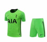 2020/2021 Tottenham Hotspur Goalkeeper Green Men's Soccer Jersey + Shorts Set