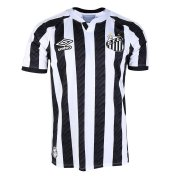 2020/2021 Santos FC Away Black&White Stripes Men Soccer Jersey Shirt
