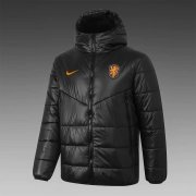 2020/2021 Netherlands Black Soccer Winter Jacket Men