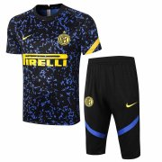 2020-2021 Inter Milan Short Soccer Training Suit Blue