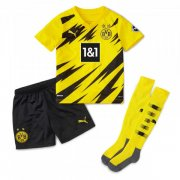 2020/2021 Borussia Dortmund Home Yellow Kids Soccer Jersey Whole Kit(Shirt + Short + Socks)