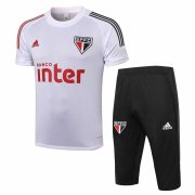 2020-2021 Sao Paulo FC Short Soccer Training Suit White