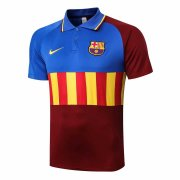2020-2021 Barcelona Blue&Red Soccer Polo Jersey
