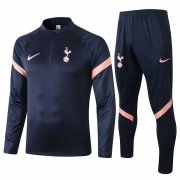 2020-2021 Tottenham Hotspur Navy Half Zip Soccer Training Suit