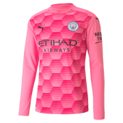 2020/2021 Manchester City Third Goalkeeper Pink LS Men Soccer Jersey Shirt