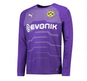 Borussia Dortmund 18-19 Third Goalkeeper Purple LS Soccer Jersey Shirt