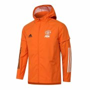 2020/2021 Manchester United Orange All Weather Windrunner Soccer Jacket Men's