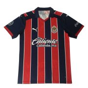2020/2021 Chivas Away Navy&Red Stripes Men Soccer Jersey Shirt