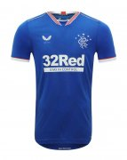2020/2021 Rangers Home Blue Men Soccer Jersey Shirt