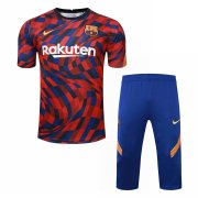 2020-2021 Barcelona Short Soccer Training Suit Red&Blue