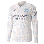 2020/2021 Manchester City Third White LS Men Soccer Jersey Shirt
