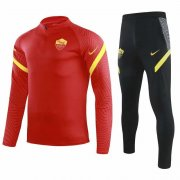 2020-2021 AS Roma Red Half Zip Soccer Training Suit