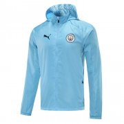 2020/2021 Manchester City Light Blue All Weather Windrunner Soccer Jacket Men's