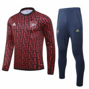2020-2021 Arsenal UCL Red-Black Soccer Training Suit