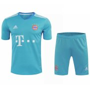 2020/2021 Bayern Munich Goalkeeper Blue Men's Soccer Jersey + Shorts Set