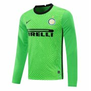 2020/2021 Inter Milan Goalkeeper Green Long Sleeve Soccer Jersey Men's
