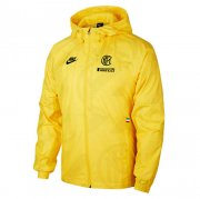 2020/2021 Inter Milan Hoodie All Weather Windrunner Jacket Yellow Mens