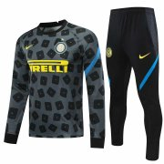 2020/2021 Inter Milan Grey Soccer Training Suit Men
