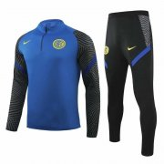 2020-2021 Inter Milan Blue Half Zip Soccer Training Suit