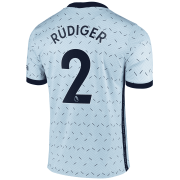 2020/2021 Chelsea Away Light Blue Men's Soccer Jersey Rudiger #2