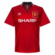 1994/96 Manchester United Retro Home Red Men Soccer Jersey Shirt