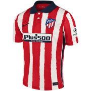 2020/2021 Atlético de Madrid Home Red&White Stripes Men Soccer Jersey Shirt