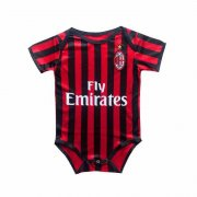 2019/2020 AC Milan Home Red&Black Stripes Baby Infant Crawl Soccer Jersey Shirt
