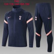 Kid's 2020-2021 Tottenham Hotspur Navy Jacket Soccer Training Suit