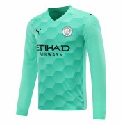 2020/2021 Manchester City Goalkeeper Green Long Sleeve Soccer Jersey Men's