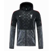 2020/2021 Liverpool Black All Weather Windrunner Soccer Jacket Men's