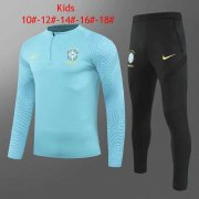 2020/2021 Brazil Light Blue Soccer Training Suit Kid's