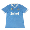 86/87 Napoli Home Blue Retro Soccer Jersey Shirt Men