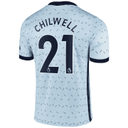 2020/2021 Chelsea Away Light Blue Men's Soccer Jersey Chilwell #21