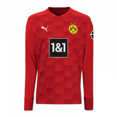 2020/2021 Borussia Dortmund Goalkeeper Red Men Soccer Jersey Shirt
