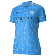 2020/2021 Manchester City Home Light Blue Women Soccer Jersey Shirt