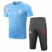 2020-2021 Real Madrid Short Soccer Training Suit Blue