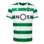 2020/2021 Sporting Portugal Home Green&White Stripes Soccer Jersey Men's