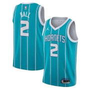 Charlotte Hornets 2020 NBA Draft First Round Pick Jordan Teal Men Swingman Jersey Icon Edition