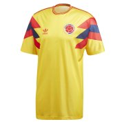 1990 Colombia Retro Home Soccer Jersey Men's